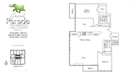 Parade cityplace parade grand parade floorplans for 5 mariner terrace floor plan