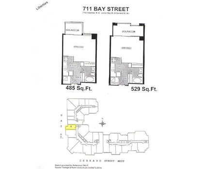 Floor Plans For The Liberties At 711 Amp 717 Bay St The