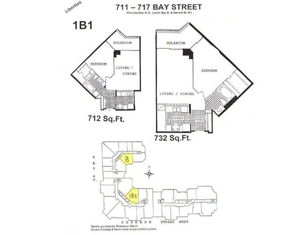 Floor plans for the liberties at 711 717 bay st the for Floor plans 761 bay street