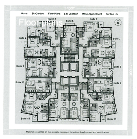 west one cityplace west one floorplans